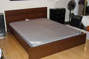 ikea malm bed frame slatted base and sultan mattress malibu
