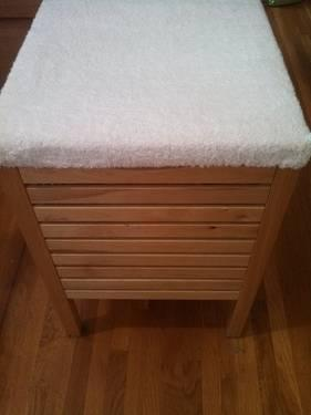 IKEA Nice MOLGER Storage Stool WOODEN Birch Wood