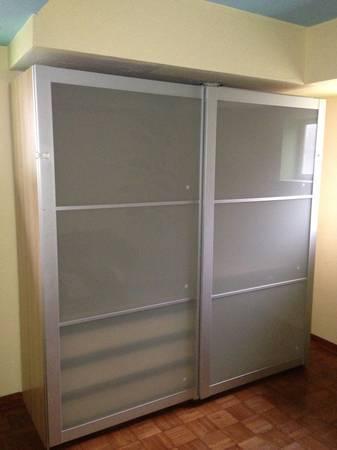 Ikea PAX Closet Organizer w/Sliding Doors, Drawers and Pants ...