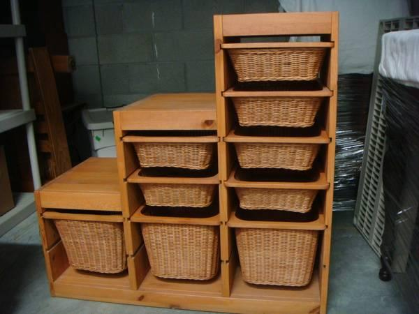 Ikea Trofast W Wicker Basket Drawers For Sale In Belmont