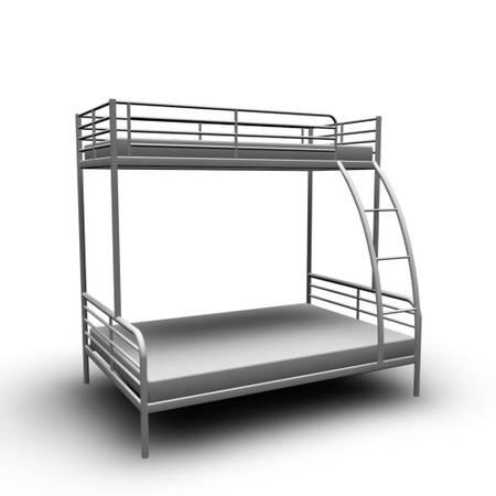 ikea tromso bunk bed twin and full size grey all metal kids boy girl room for sale in. Black Bedroom Furniture Sets. Home Design Ideas