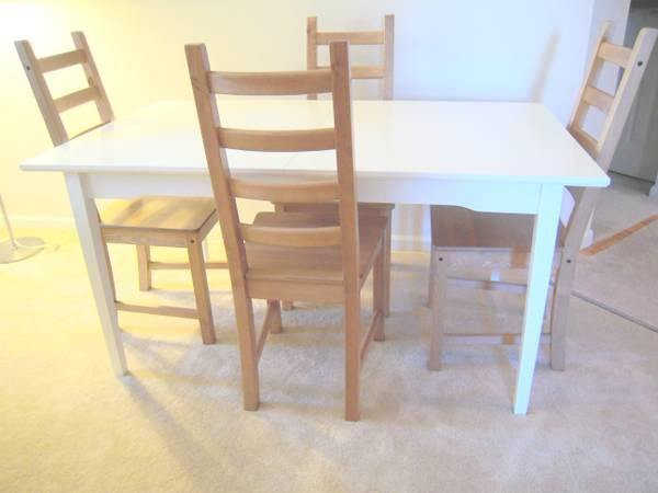 Ikea Esstisch Lyckhem ~ Ikea white Lyckhem extension table & 4 Kaustby chairs  for Sale in Mount
