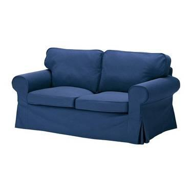 Ikea ektorp loveseat sofa slipcover replacement idemo blue and pillows for sale in langhorne Blue loveseat slipcover
