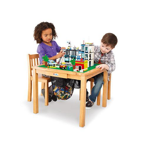 Imaginarium LEGO Activity Table and Chair Set - Natural ...