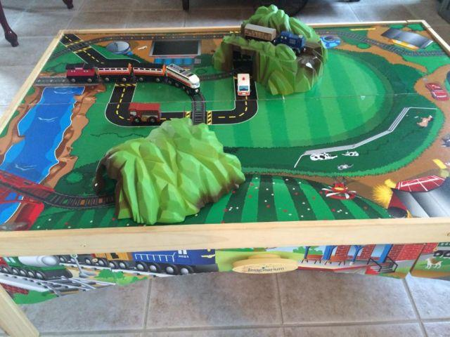 Imaginarium Train Table with drawer and train set for Sale in ...