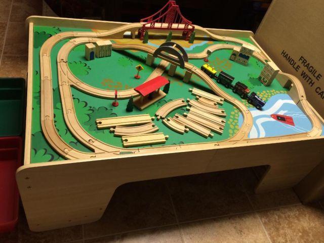 Imaginarium Train Table with Tracks, Trains, Bridge, Tunnels for ...