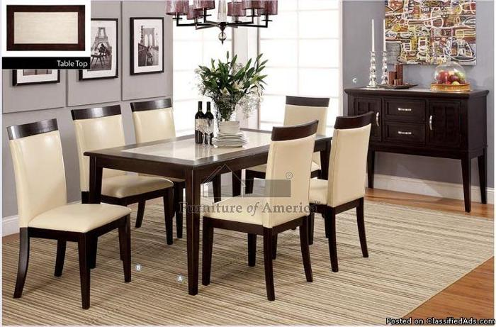 Http Elmonte Americanlisted Com 91731 Home Decor Import Direct Evious I Espresso Faux Marble Dining Table 24757269 Html