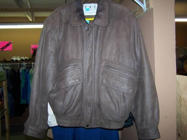 INC OUTERWEAR LEATHER JACKET - $14