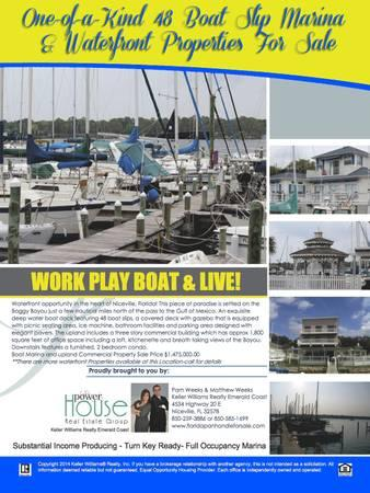 Income Producing, 48 Boat Slip Marina For Sale!