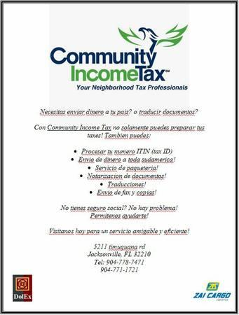 Income tax/Notarization/Fax