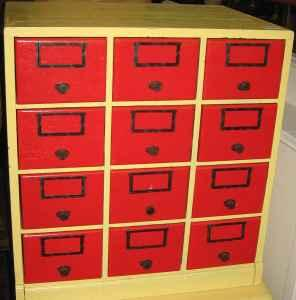 Index Card Cabinet Oak   $75 (Westfield)
