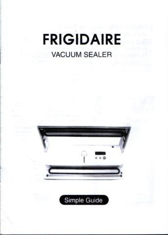 Instructions for Frigidaire Vacuum Sealer 33ZW Simple