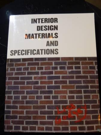 Interior Design Materials and Specifications Textbook wCD for
