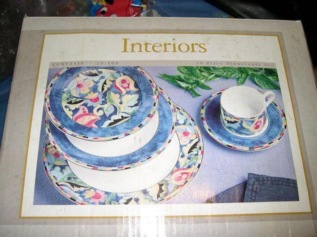 INTERIORS 19 Piece Dinnerware Set FANTASIA 20-106 & INTERIORS 19 Piece Dinnerware Set FANTASIA 20-106 for Sale in ...