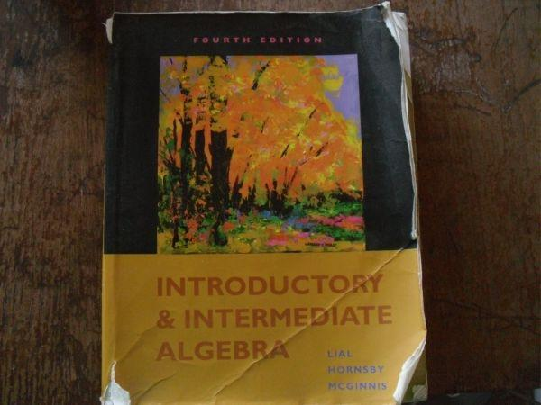 introductory and intermediate algebra - $80