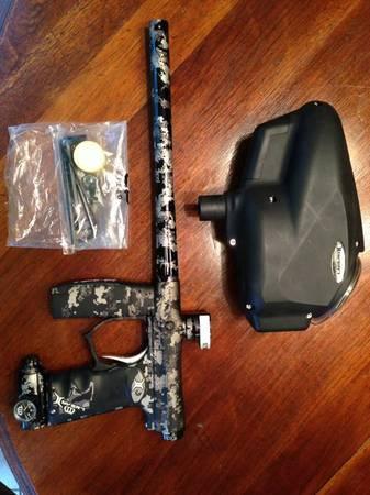 Invert Mini paintball gun with hopper - $250