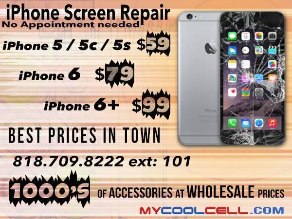 iPhone 5/5c/5s Cracked Screen Sale $59