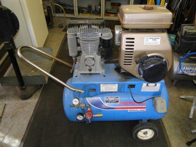 Ir Ingersoll Rand Gas Powered Air Compressor 8hp Wisconsin