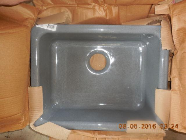 IRON TONES CAST IRON UNDER COUNTER SELF RIMMING SINK