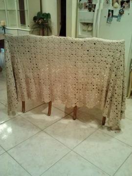 Italian Handmade Vintage Crochet Tablecloth/Bedspread