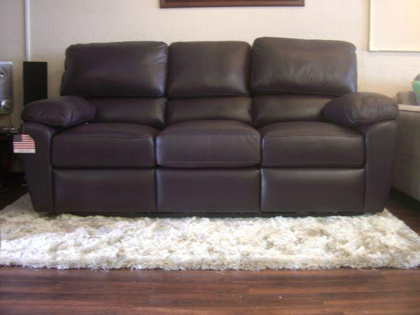 Italian Leather Reclining Sofa High Back And Very Comfy