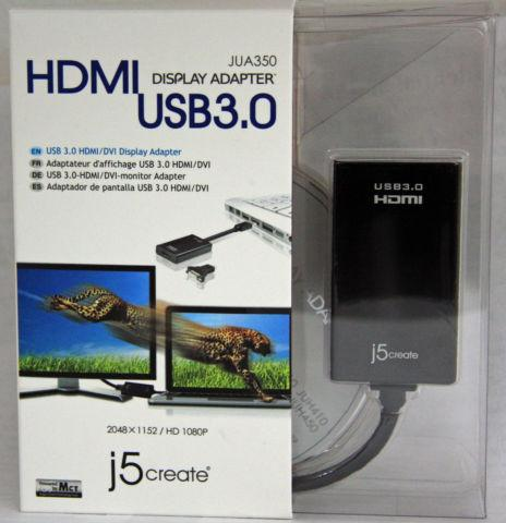 j5 Create USB 3.0 to HDMI/DVI Display Adapter
