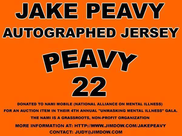 Jake Peavy Autographed Jersey