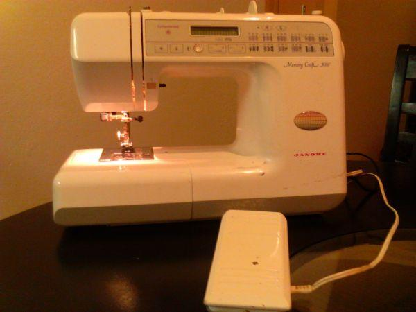 Janome memory craft 3000 sewing machine obo modesto for Janome memory craft 3000
