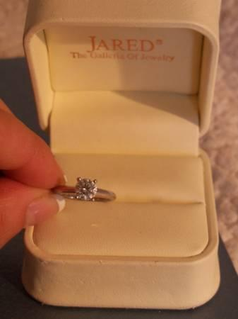 Jared Solasfera Round Brilliant Diamond Engagement Ring for Sale