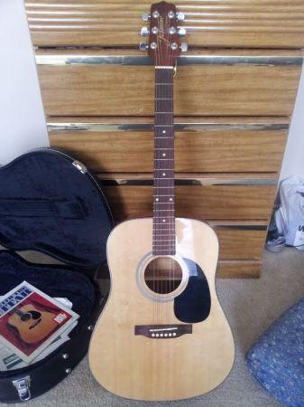 Jasmine By Takamine S33 Dreadnought Acoustic Guitar With Case