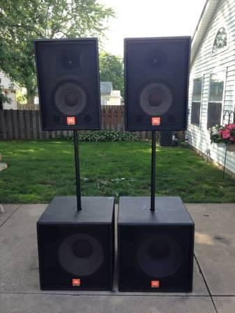 JBL SRX series speakers - $1650