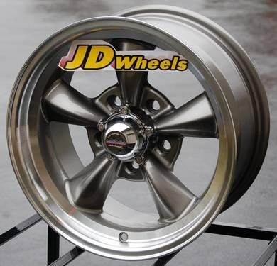 Jd wheels 15x6 rev classic 100 chrome 5x4 5 ford falcon for American classic wheels for sale