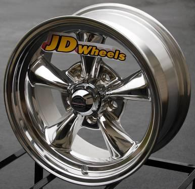 Jd wheels 15x6 rev classic 100 chrome gm chevy for American classic wheels for sale