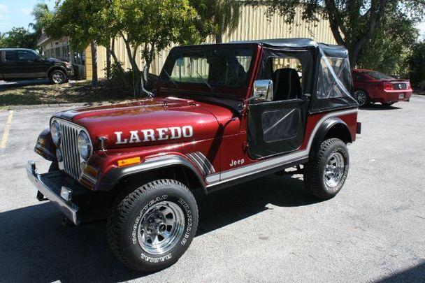 jeep cj7 laredo for sale in sarasota florida classified. Black Bedroom Furniture Sets. Home Design Ideas