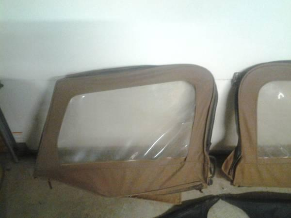 Jeep Wrangler Soft Top Back Windows and Half Doors with