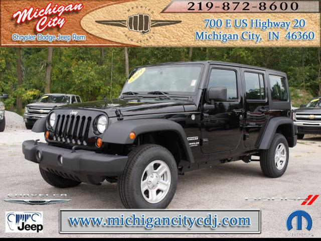 jeep wrangler unlimited 4x4 sport 4dr suv 2013 for sale in long beach indiana classified. Black Bedroom Furniture Sets. Home Design Ideas