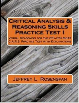 Jeffrey Rosenspan MCAT C A R S  Practice Test for Sale in Walpole
