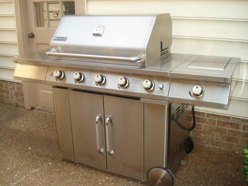 jenn air grill jenn air 6 stainless steel gas grill cooking center for 10645