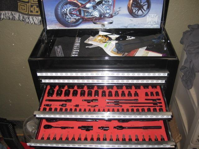 Jesse James West Coast Choppers Box with 210 tools made by Mac tools
