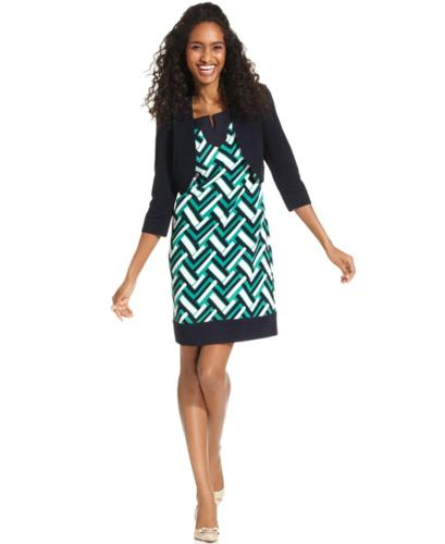 Jessica Howard Dress and Cardigan, Sleeveless