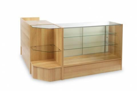Jewelry Store Display Showcase Glass Case Counter Display In Compton