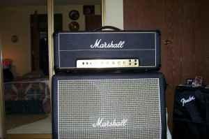 JMP 50 watt Marshall Lead amp with 412 cab - $1400 Drain