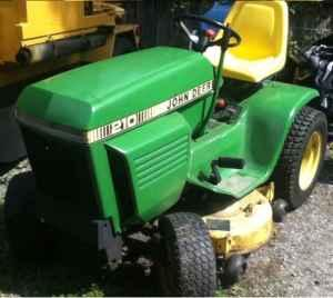 John Deere 210 Mower deck and snowplow - $1000