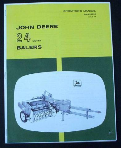 JOHN DEERE 24 SERIES BALER OPERATORS MANUAL 24T 24WS HAY FARM BOOK