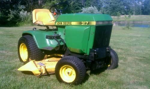 John Deere 317 garden tractor - hydrostatic - VIDEO