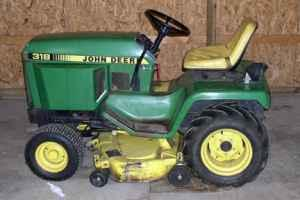 John Deere 318 Mower with Snow Blower - $2500 (Castile)
