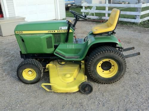 John Deere 400 Garden Tractor Attachments : John deere lawn garden tractor for sale in peru