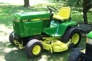 Good John Deere 420 Garden Tractor Epoxy Primed And Painted