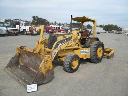 John Deere 644E Rubber Tire Loader, GP bucket