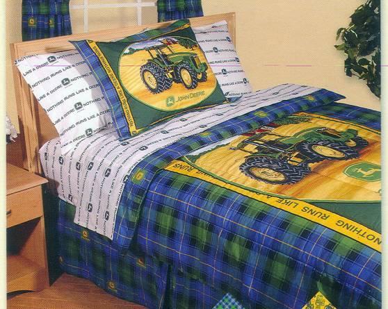 John Deere Bed Set : John deere full size reversible comforter set w lamp